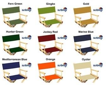 Sunbrella(R) Directors Chair Replacement Covers (Round Stick , Marine Grade  Fabric)