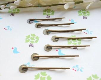 SALE--100pcs Antique Bronze Hair Pins - Bobby Pins