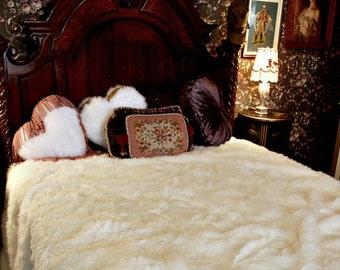 Items Similar To King Queen Plush Shaggy Faux Fur Brown