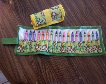 crayon roll up case crayons included