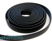 Base price 2.50 Euro/meter Rubber band flat 10 x 2 mm black 1 meter Synthetic