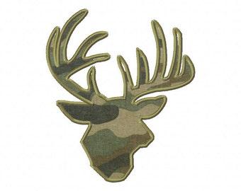 INSTANT DOWNLOAD Deer or Buck Bust Machine Applique Embroidery Design
