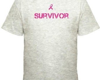 Survivor Breast Cancer Awareness T-shirt