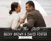 Custom Personalized Digital Wedding Save the Date Photo Cards, 5x7 PRINTABLE - SD1