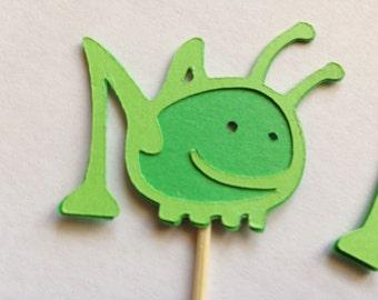 Grasshopper Cupcake Toppers - One Dozen