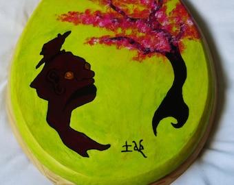 Zen 'Tree Spirit' Hand Painted Toilet Seat Lid