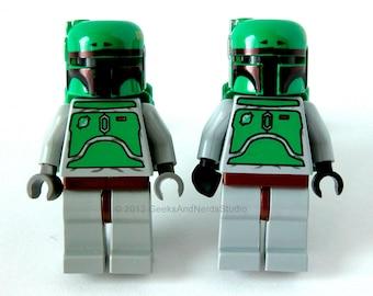LEGO Star Wars Boba Fett Cufflinks - Star Wars Wedding - Groomsmen Gift - Mens Cufflinks - Best Man Gift - Geek Jewelry