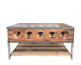 Wine rack coffee Table on sale!