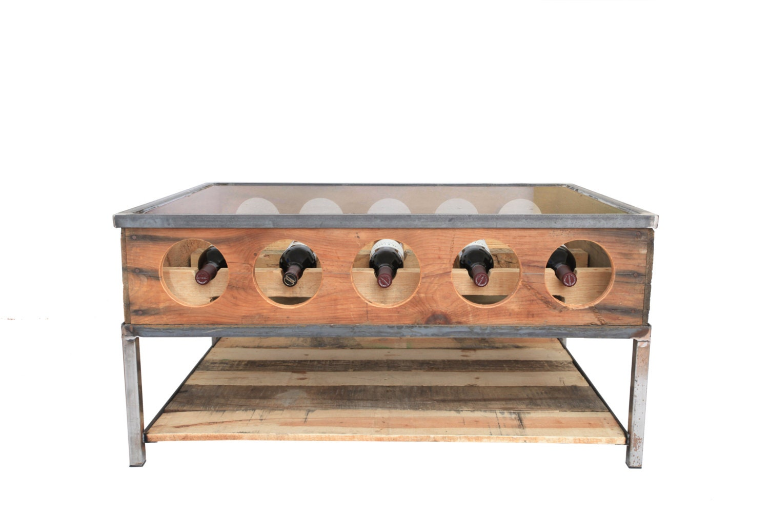 Wine Rack Coffee Table On Sale