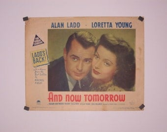 Alan Ladd - Loretta Young  - And Now Tomorrow - Original Australian Lobby Card