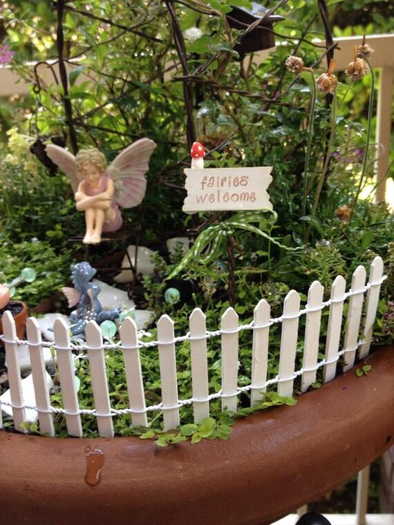 2 X 18 Long Fairy Garden Miniature White Picket