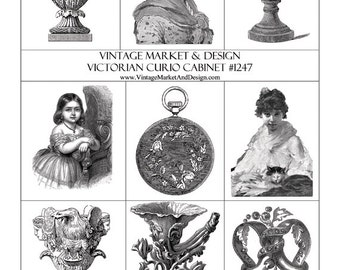 Victorian Curio Cabinet Sheet No.1247-Images of Another Time