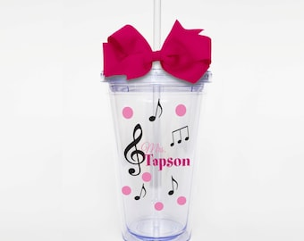 Music Teacher Personalized Name - Acrylic Tumbler Personalized Cup