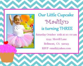 Cupcake Birthday Invitation