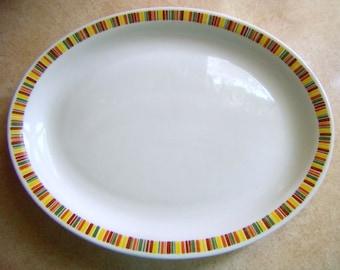 SHENANGO CHINA  Heavy Platter New Castle, Pa  Retro Colors  Vintage Platter Shenango