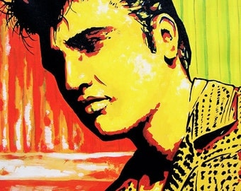 "Elvis Presley Canvas Print of Original Painting 24""x30"""