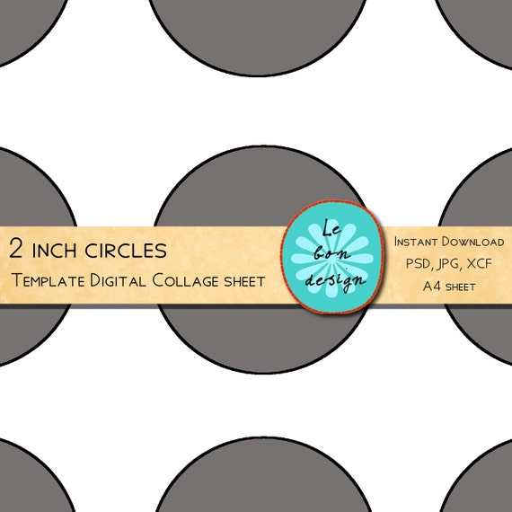 cupcake toppers 2 inch circle template 12 circles diy. Black Bedroom Furniture Sets. Home Design Ideas