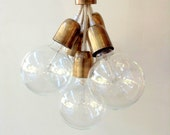 Handmade Pendant Light Chandelier Edison Restoration Industrial style Globes Fabric cables EGST