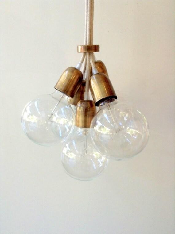 La main pendentif lumière lustre Edison restauration industrielle style tissu Globes câbles EGST