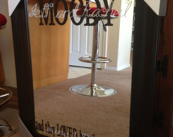 Custom Mirrors and Picture Frames with Lettering of your choice