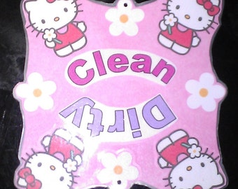 Dirty/Clean Dishwasher Magnet with suction cup option.  (Several Designs)