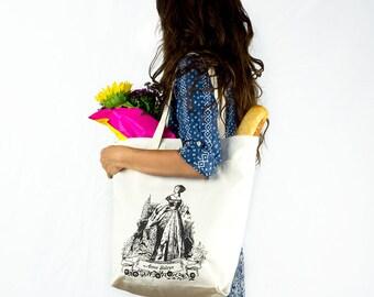 Anne Boleyn Organic Cotton Large Tote Bag