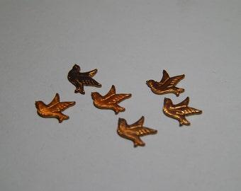 6 Tiny Copper Birds