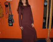 hemp clothing - long sleeve nightgown / dress / organic pajamas - 100% hemp and organic cotton - custom made to order - hand dyed