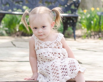 Flower Dust Crochet Pattern Sundress Sizes 6 mos - girls size 5