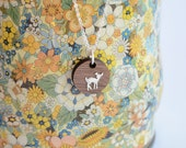 Circle Fawn Walnut & Silver Necklace