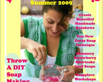 Soap Party, Polka Dots, Rainbows - Lets Get Soapy eZine for glycerin soap crafting - Issue 2
