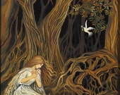 The Key Brothers Grimm Fairy Tale Forest Goddess Art 8x10 Print