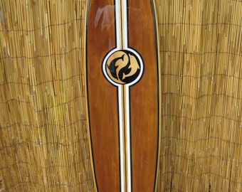 Decorative Wooden Surfboard Wall Art for a Hotel, Restaurant, Island or Beach Decor, Hawaii Decor, Coastal Theme Decor  - 4 Sizes available