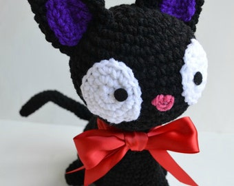 Jiji Cat Plush Amigurumi Doll Large Version