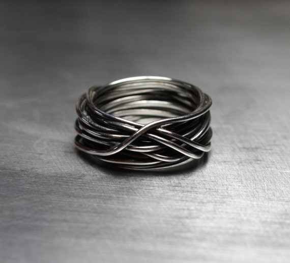Men S Ring Men S Wedding Band Wire Wrapped Ring By