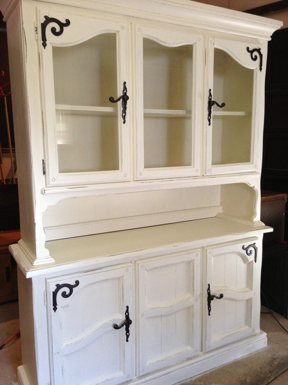 shabby chic farmhouse hutch by jamieelaine on etsy