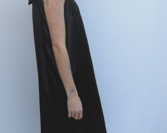 SALE, Low Back Satin Dress in Black, Medium Only, Ready to Ship