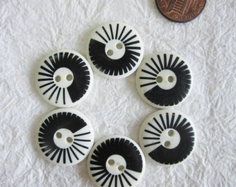 Graphic Buttons 21 mm. set 3 - 20 pcs