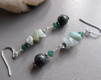 Gemstone Rainforest Jade Serenity Earrings