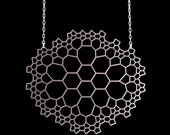 Network Necklace - stainless steel