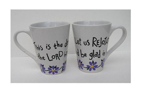 Coffee And Christmas Quotes: Items Similar To Coffee Mug Set, Christian Christmas Gift