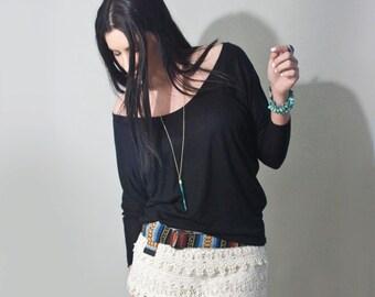 Dolman Shirt • Women's Scoop Neck Top • Blouse • Dressy Tops • Loft 415 Clothing (No. 818)