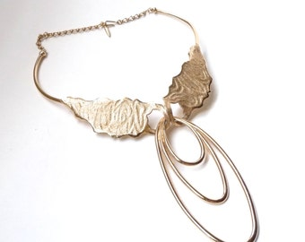 1970s Statement Necklace Gold Boucher