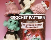 PDF Crochet Pattern - Ice Cream Scoop Hair Clip