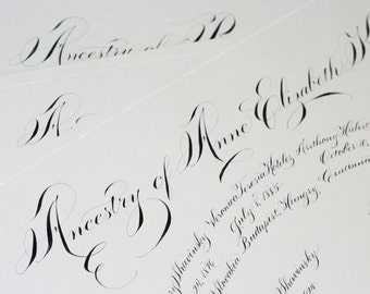 As Seen on Martha Stewart: Family Tree - Personalized Handwritten Calligraphy Heirloom