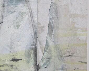 A Piece of Zen 2 poster of a contemporary abstract painting urban zen spa wall decor