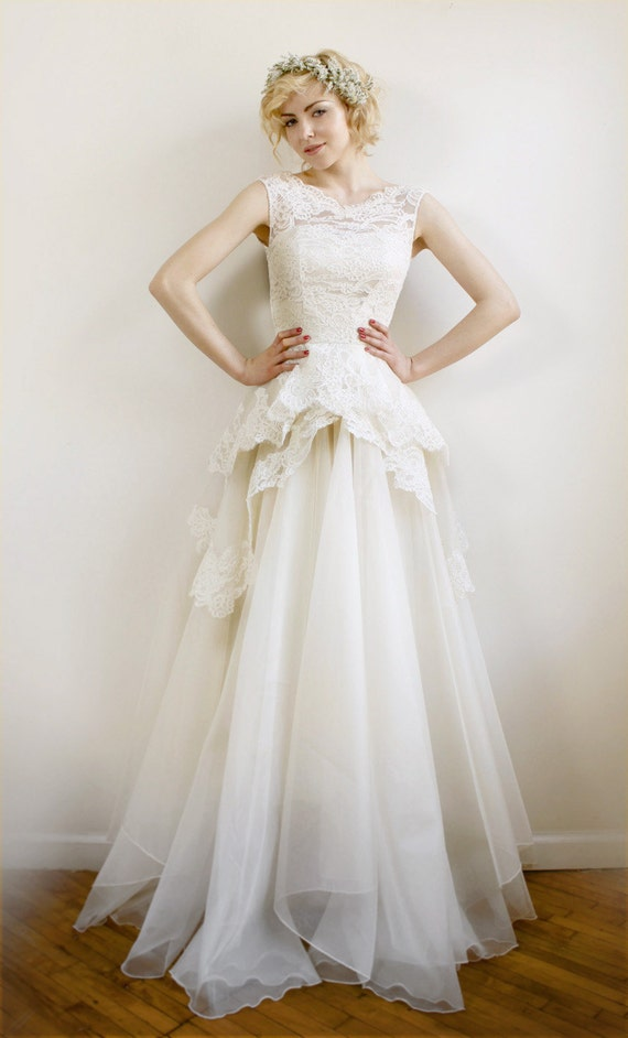 Items Similar To Mireille- Silk Organza And French Lace