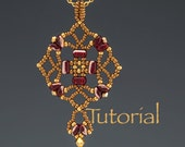 Beadwoven Pendant Tutorial Tulipan Digital Download