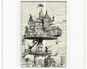 steampunk life dictionary page print