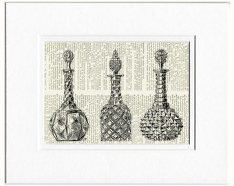 1851 Crystal Palace decanters print